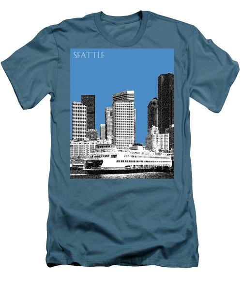 Seattle Skyline - Slate Men's T-Shirt (Athletic Fit)