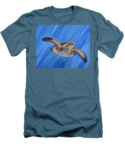 Seaturtle Men's T-Shirt (Slim Fit) by Steve Ozment