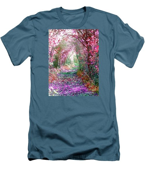 Men's T-Shirt (Slim Fit) featuring the photograph Secret Garden by Vicki Spindler