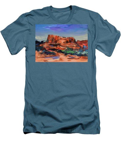Courthouse Butte Rock - Sedona Men's T-Shirt (Athletic Fit)