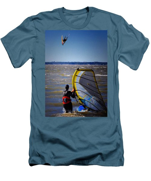 See Ya Roun Men's T-Shirt (Slim Fit) by Robert McCubbin