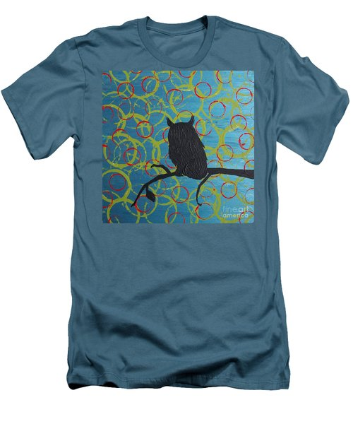 Men's T-Shirt (Slim Fit) featuring the painting Seer by Jacqueline McReynolds