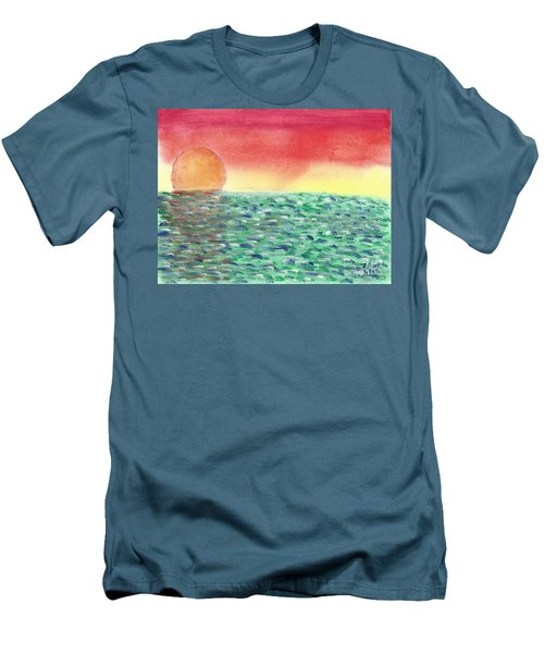 Setting Sea Men's T-Shirt (Slim Fit) by John Williams