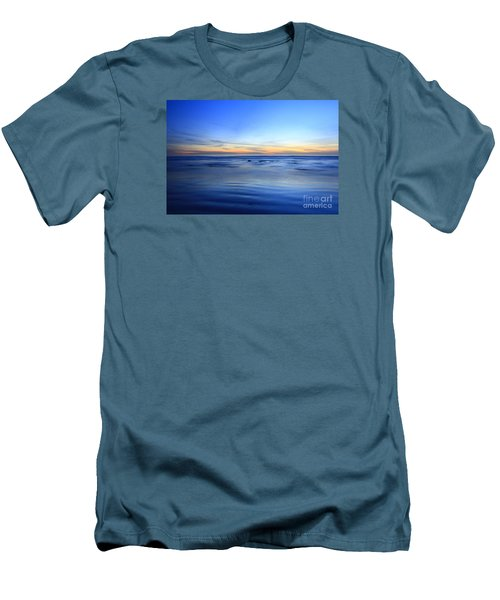 Men's T-Shirt (Slim Fit) featuring the photograph Rocks In Surf Carlsbad by John F Tsumas