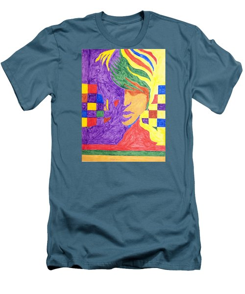 Men's T-Shirt (Slim Fit) featuring the painting Prince Gemini   by Stormm Bradshaw