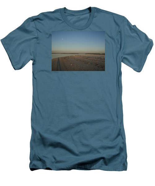 Men's T-Shirt (Slim Fit) featuring the photograph Shadow Moon by Robert Nickologianis