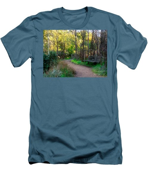 Men's T-Shirt (Slim Fit) featuring the photograph Shady Dell by Kate Brown