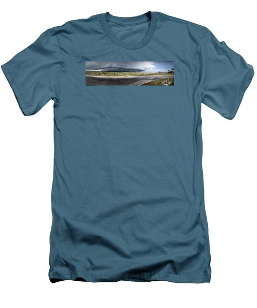 Men's T-Shirt (Slim Fit) featuring the photograph Shell Island Squall by Phil Mancuso
