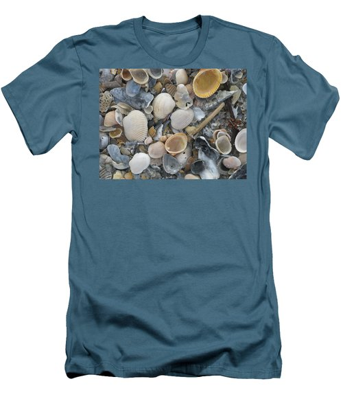 Shell Mosaic Men's T-Shirt (Slim Fit) by Ellen Meakin