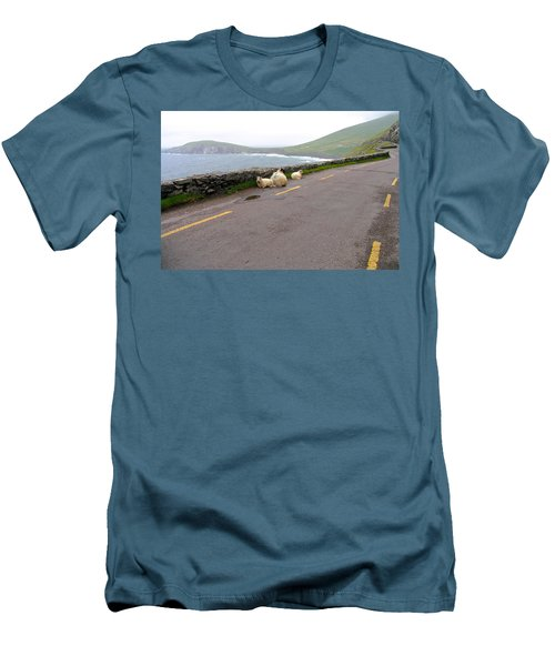 Men's T-Shirt (Slim Fit) featuring the photograph Shelter by Suzanne Oesterling