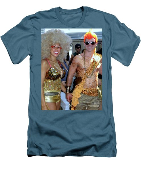 Men's T-Shirt (Slim Fit) featuring the photograph Shiny Happy People by Ed Weidman