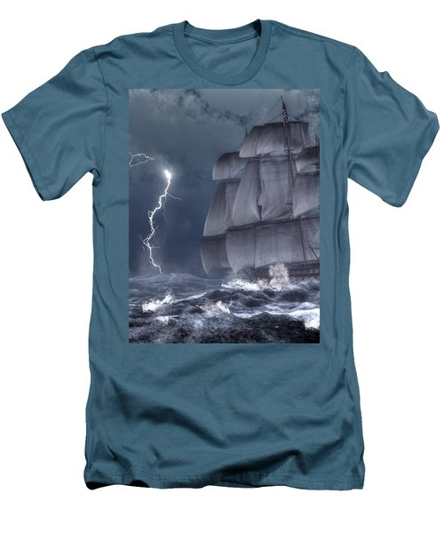 Ship In A Storm Men's T-Shirt (Athletic Fit)