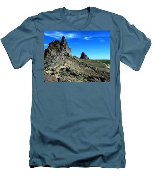 Men's T-Shirt (Slim Fit) featuring the photograph Shiprock by Alan Socolik