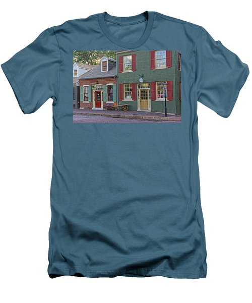 Shops S Main St Charles Mo Dsc00886  Men's T-Shirt (Slim Fit) by Greg Kluempers