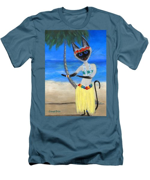 Siamese Queen Of Hawaii Men's T-Shirt (Slim Fit) by Jamie Frier