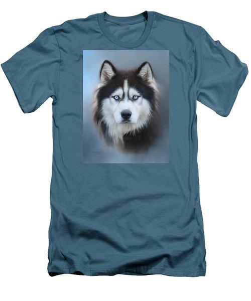 Siberian Husky Men's T-Shirt (Slim Fit) by Lena Auxier