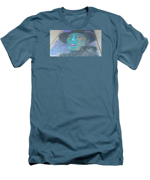 Men's T-Shirt (Slim Fit) featuring the photograph Sidewalk Halloween Contest by Janette Boyd