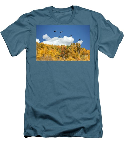 Signs Of The Season Men's T-Shirt (Slim Fit) by Bob Hislop