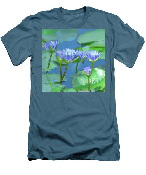 Silken Lilies Men's T-Shirt (Slim Fit) by Holly Kempe