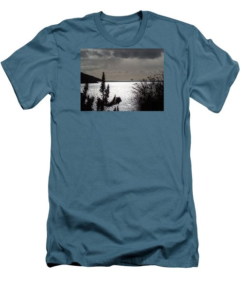 Silver Men's T-Shirt (Slim Fit) by Richard Brookes