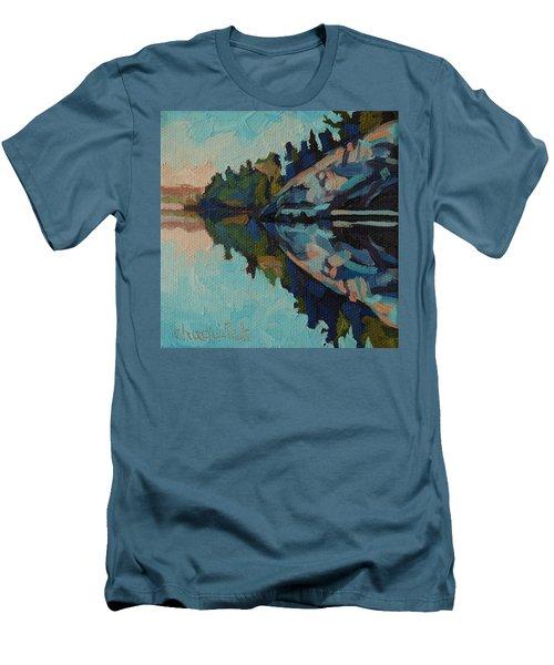 Singleton Cliffs Men's T-Shirt (Slim Fit) by Phil Chadwick