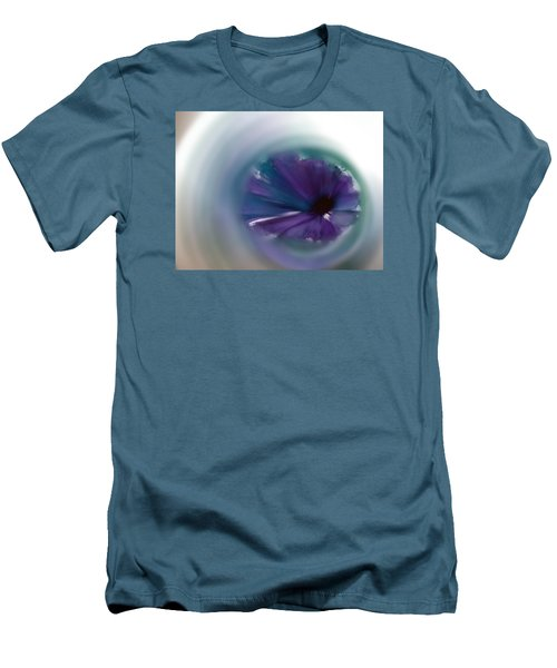 Men's T-Shirt (Slim Fit) featuring the mixed media Sinking Into Beauty by Frank Bright