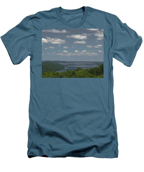 Skaneateles Lake Men's T-Shirt (Slim Fit) by Richard Engelbrecht