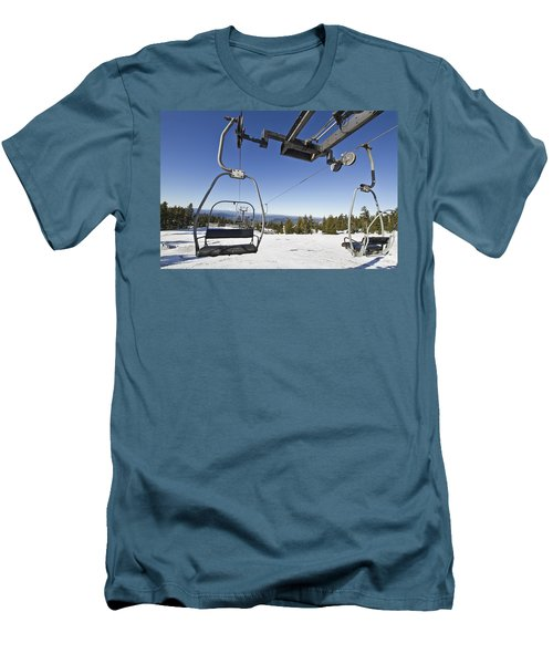 Ski Lifts At Mount Hood In Oreon Men's T-Shirt (Athletic Fit)