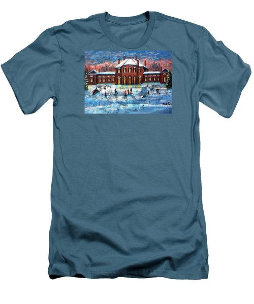 Sledding At The Gore Estate Men's T-Shirt (Slim Fit) by Rita Brown