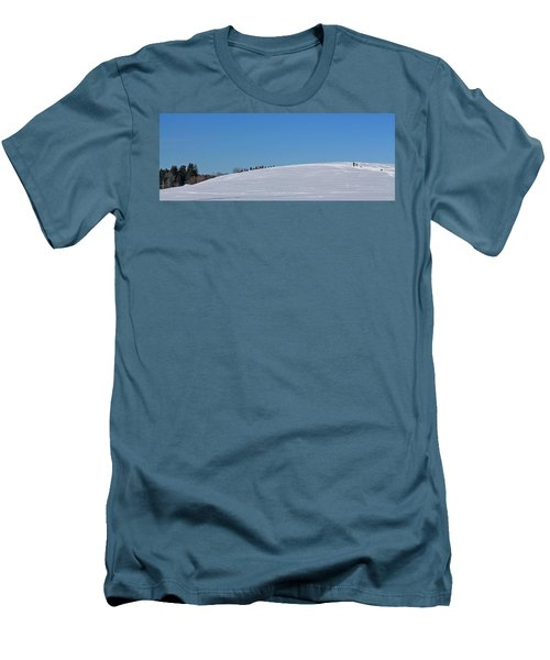 Dexter Drumlin Hill Sledding Men's T-Shirt (Athletic Fit)