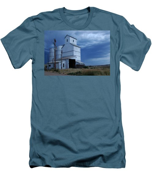 Men's T-Shirt (Slim Fit) featuring the photograph Small Town Hot Night Big Storm by Cathy Anderson