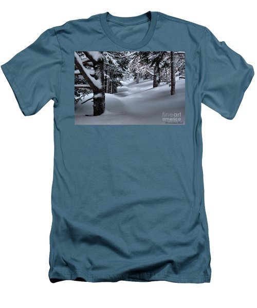Snow Covered Trail Men's T-Shirt (Athletic Fit)
