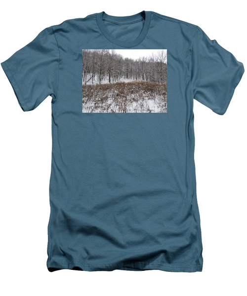 Snow Covered Woodland Men's T-Shirt (Athletic Fit)