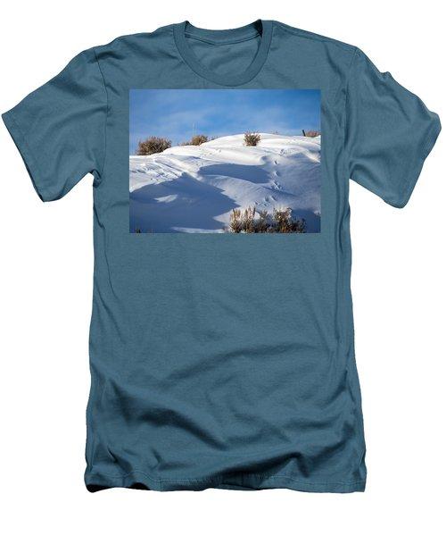 Snowdrifts Men's T-Shirt (Slim Fit) by Nadja Rider
