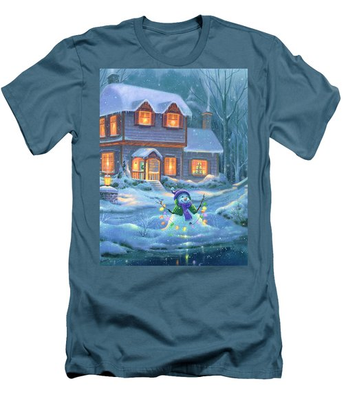 Snowy Bright Night Men's T-Shirt (Athletic Fit)