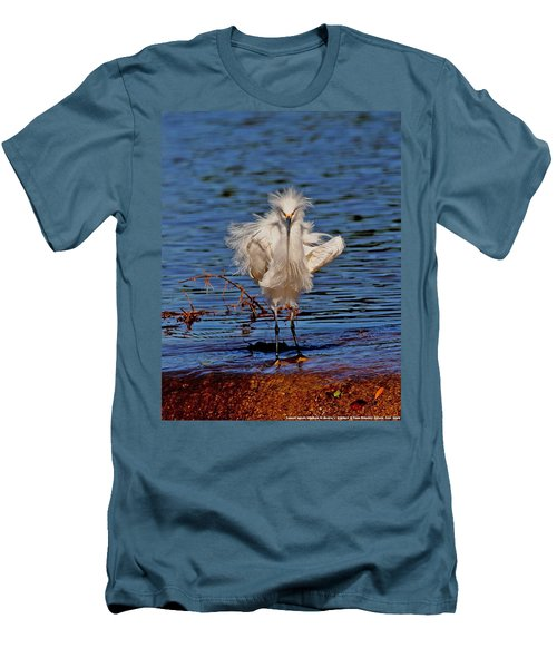 Snowy Egret With Yellow Feet Men's T-Shirt (Athletic Fit)