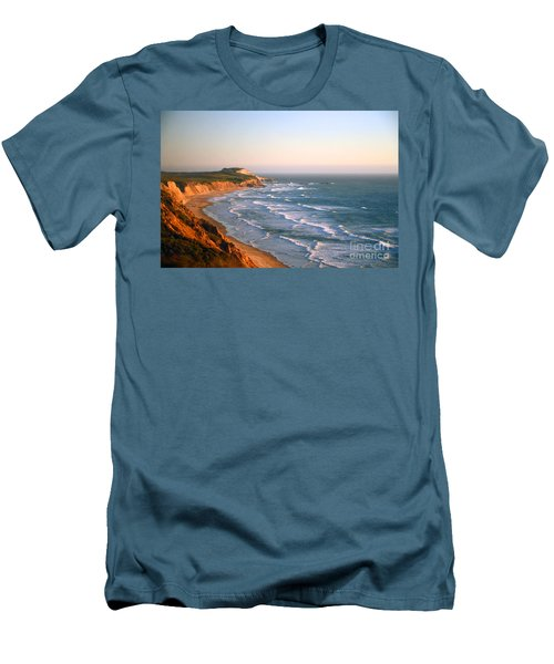 Men's T-Shirt (Athletic Fit) featuring the photograph Socal Coastline Sunset by Clayton Bruster