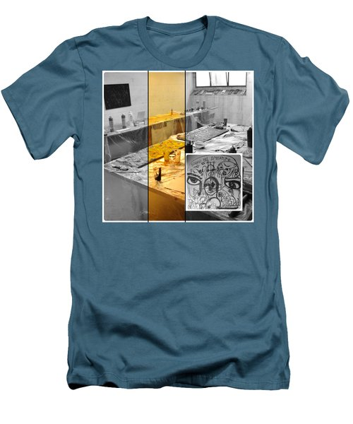 Men's T-Shirt (Slim Fit) featuring the photograph Sogno Nel Presente Part One by Sir Josef - Social Critic - ART