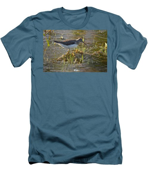 Solitary Sandpiper 2 Men's T-Shirt (Athletic Fit)