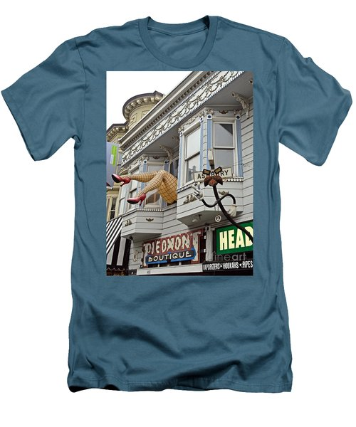 Something To Find Only The In The Haight Ashbury Men's T-Shirt (Slim Fit) by Jim Fitzpatrick