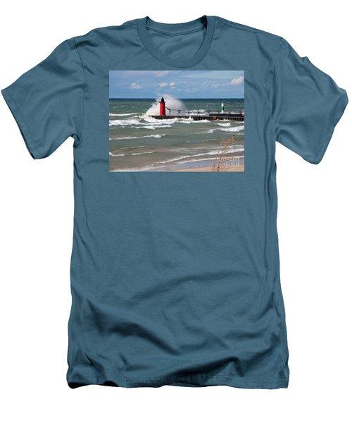 South Haven Splash Men's T-Shirt (Athletic Fit)