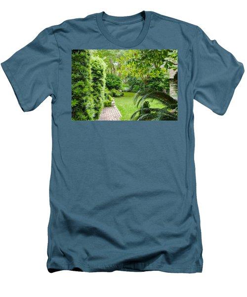 Men's T-Shirt (Slim Fit) featuring the photograph Southern Garden Charleston South Carolina by Vizual Studio
