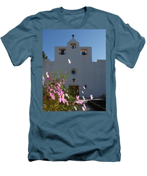 Men's T-Shirt (Slim Fit) featuring the photograph Spanish Mission by Susan Rovira