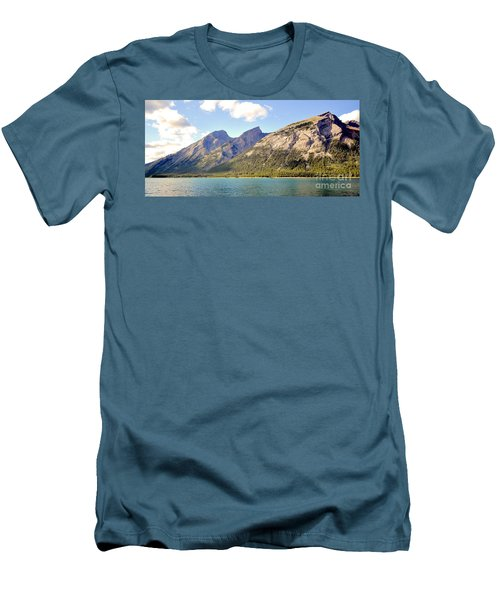 Spray Lake Mountains Men's T-Shirt (Athletic Fit)