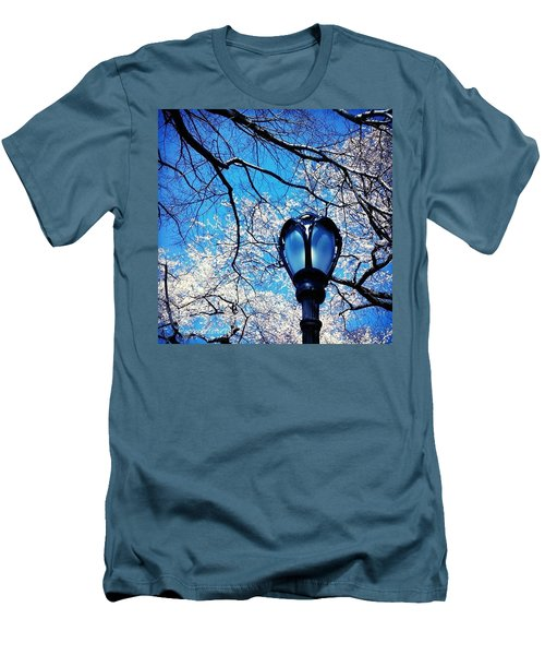 Spring In Central Park New York Men's T-Shirt (Slim Fit)