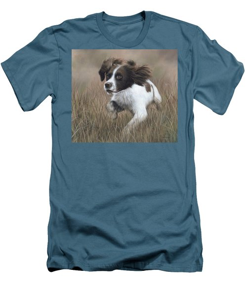 Springer Spaniel Painting Men's T-Shirt (Athletic Fit)