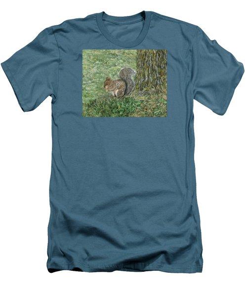 Squirrel Men's T-Shirt (Slim Fit) by Lucinda V VanVleck
