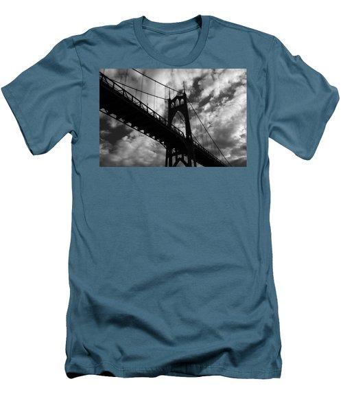 St Johns Bridge Men's T-Shirt (Slim Fit) by Wes and Dotty Weber