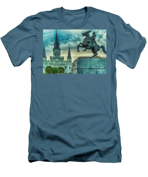 St. Louis Cathedral And Andrew Jackson- Artistic Men's T-Shirt (Athletic Fit)