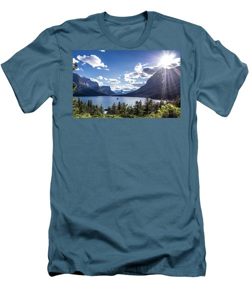 St. Mary Lake Men's T-Shirt (Slim Fit) by Aaron Aldrich